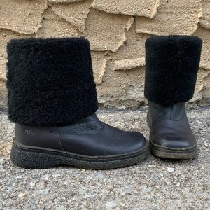 Hi Low ARCHE Shearling Leather Boots